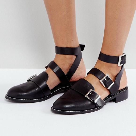 ASOS Shoes | Asos Flat Buckle Shoes